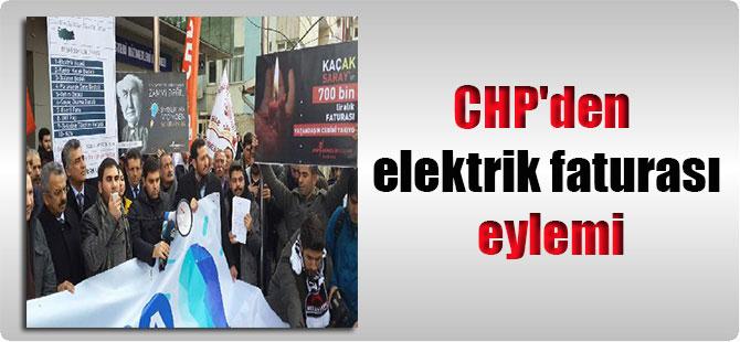 CHP'den elektrik faturası eylemi
