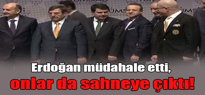 Erdoğan müdahale etti, onlar da sahneye çıktı!
