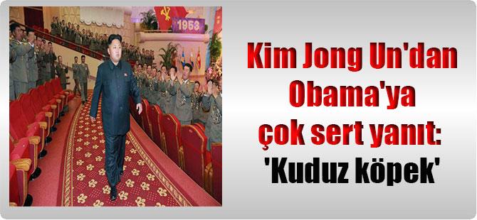 Kim Jong Un'dan Obama'ya çok sert yanıt: 'Kuduz köpek'