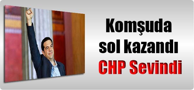 Komşuda sol kazandı CHP Sevindi