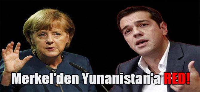 Merkel'den Yunanistan'a red!