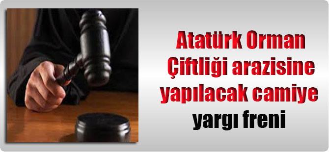 Atatürk Orman Çiftliği arazisine yapılacak camiye yargı freni