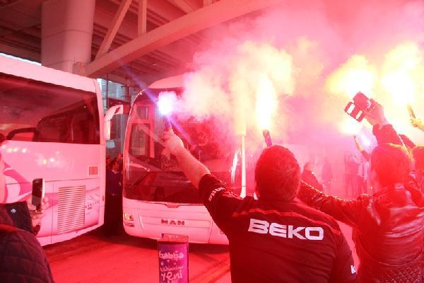Beşiktaş'a, Ankara'da coşkulu karşılama