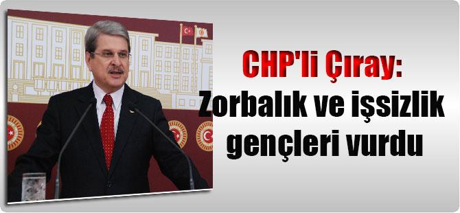 CHP'li Çıray: Zorbalık ve işsizlik gençleri vurdu