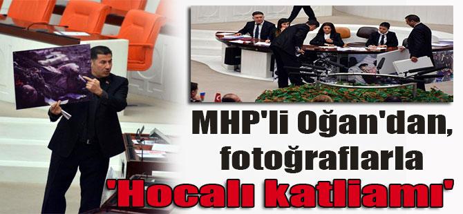 MHP'li Oğan'dan, fotoğraflarla 'Hocalı katliamı'