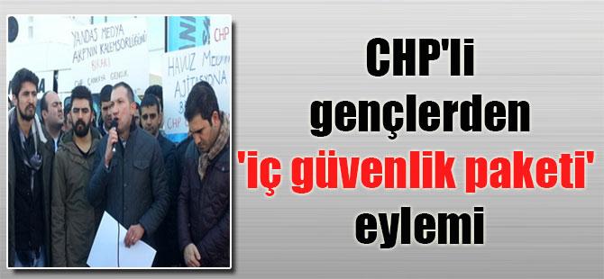 CHP'li gençlerden 'iç güvenlik paketi' eylemi