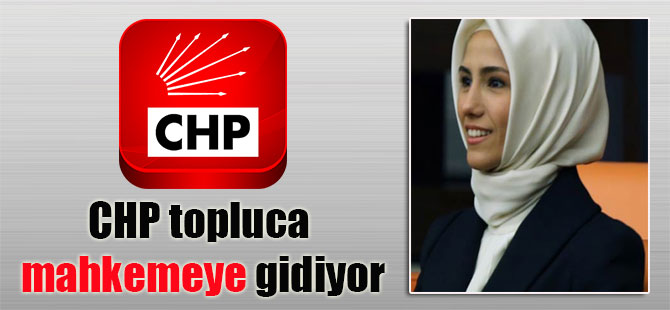 CHP topluca mahkemeye gidiyor