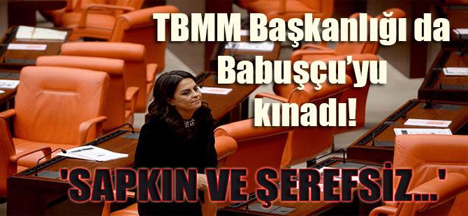 TBMM Başkanlığı da Babuşçu'yu kınadı! 'Sapkın ve şerefsiz…'
