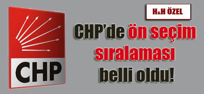 CHP'de ön seçim sıralaması belli oldu!