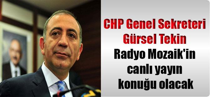 CHP Genel Sekreteri Gürsel Tekin Radyo Mozaik'in canlı yayın konuğu olacak