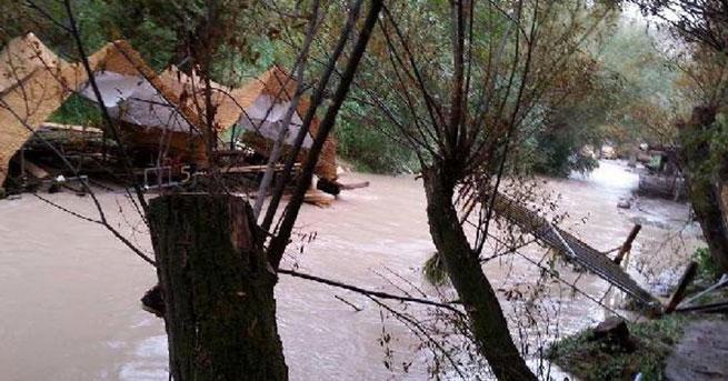 Sel, Ihlara Vadisi'nde turistik tesisleri tahrip etti