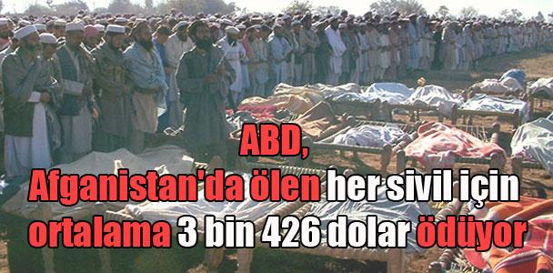 ABD, Afganistan'da ölen her sivil için ortalama 3 bin 426 dolar ödüyor