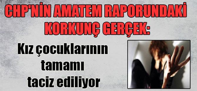 CHP'nin AMATEM raporundaki korkunç gerçek: Kız çocuklarının tamamı taciz ediliyor