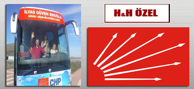 İlyas Güven Eroğlu'nun seçim otobüsü kadın kaptana emanet!