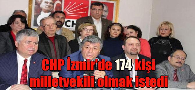 CHP İzmir'de 174 kişi milletvekili olmak istedi