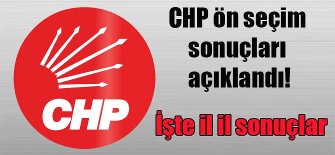 CHP ön seçim sonuçları açıklandı! İşte il il sonuçlar