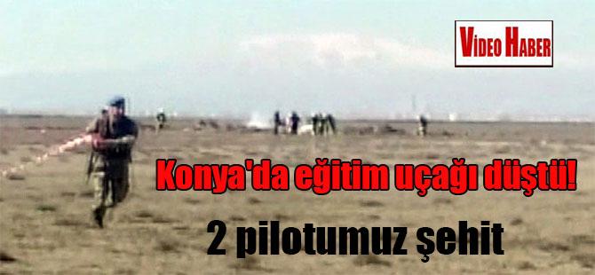 Konya'da eğitim uçağı düştü! 2 pilotumuz şehit