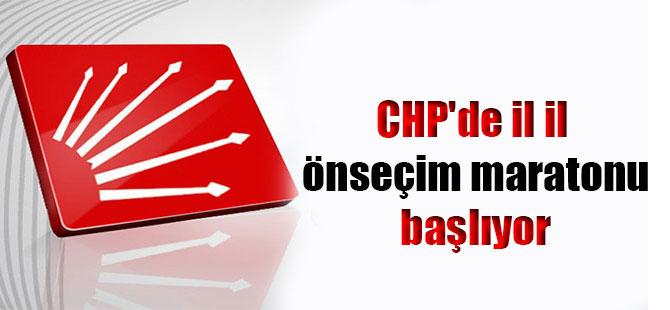 CHP'de il il önseçim maratonu başlıyor