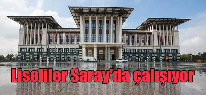 Liseliler Saray'da çalışıyor