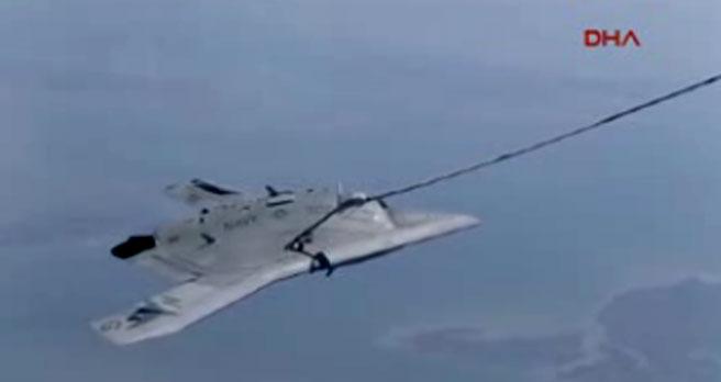 İnsansız savaş uçağına bir ilk