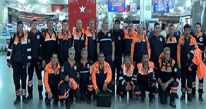 Türk kurtarma ekipleri Katmandu'ya gitti