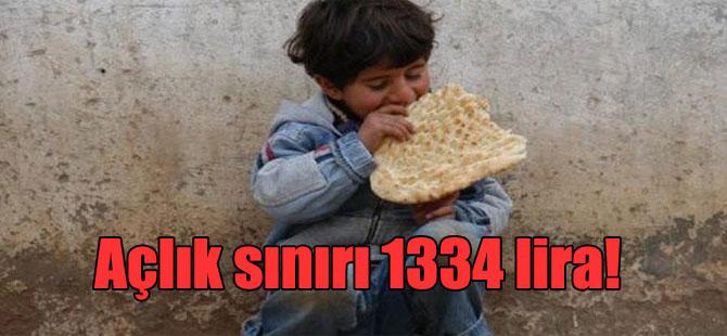 Açlık sınırı 1334 lira!
