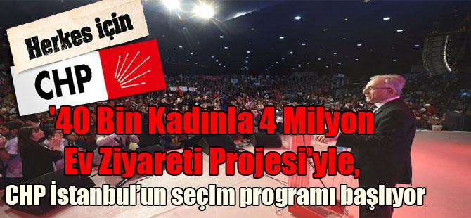 '40 Bin Kadınla 4 Milyon Ev Ziyareti Projesi'yle, CHP İstanbul'un seçim programı başlıyor