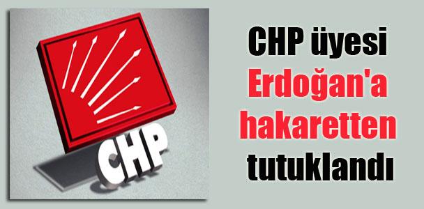 CHP üyesi Erdoğan'a hakaretten tutuklandı