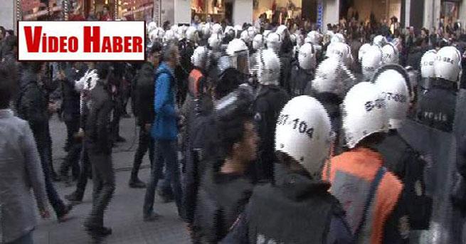 İstiklal Caddesi'nde polis kordonu