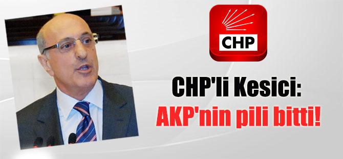 CHP'li Kesici: AKP'nin pili bitti!