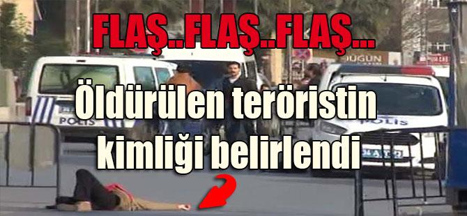 Öldürülen teröristin kimliği belirlendi