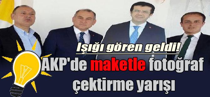 AKP'de maketle fotoğraf çektirme yarışı