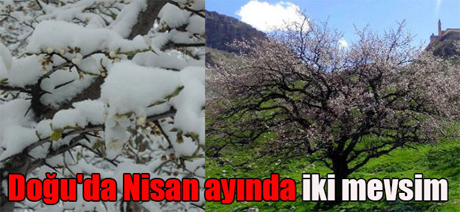 Doğu'da Nisan ayında iki mevsim
