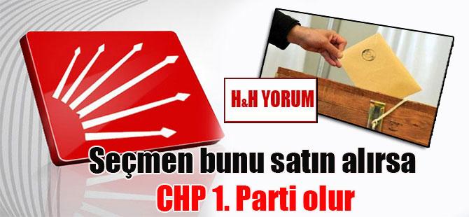 Seçmen bunu satın alırsa CHP 1. Parti olur