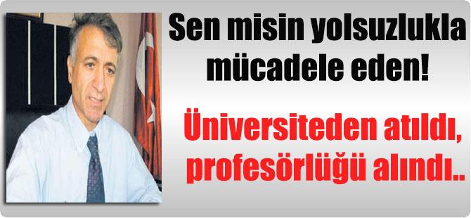 Sen misin yolsuzlukla mücadele eden! Üniversiteden atıldı, profesörlüğü alındı..