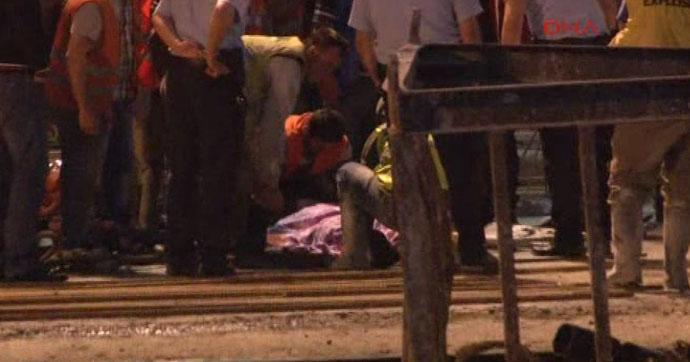 Metro inşaatında feci kaza!… 1 işçi öldü!