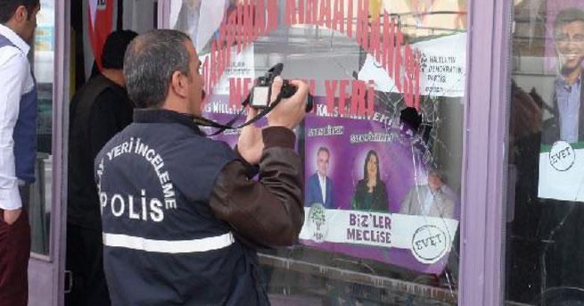 HDP'nin seçim bürosuna taşlı saldırı