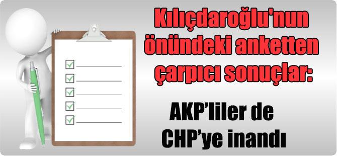 Kılıçdaroğlu'nun önündeki anketten çarpıcı sonuçlar: AKP'liler de CHP'ye inandı