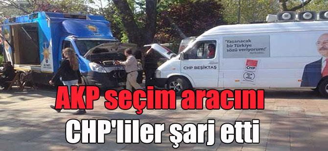 AKP seçim aracını CHP'liler şarj etti