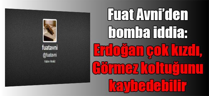 Fuat Avni'den bomba iddia: Erdoğan çok kızdı, Görmez koltuğunu kaybedebilir