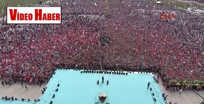 Yenikapı'daki 'Fetih Kutlamaları'nın havadan görüntüleri