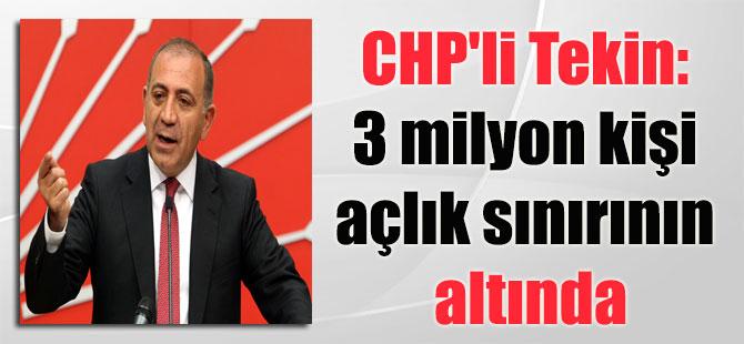 CHP'li Tekin: 3 milyon kişi açlık sınırının altında
