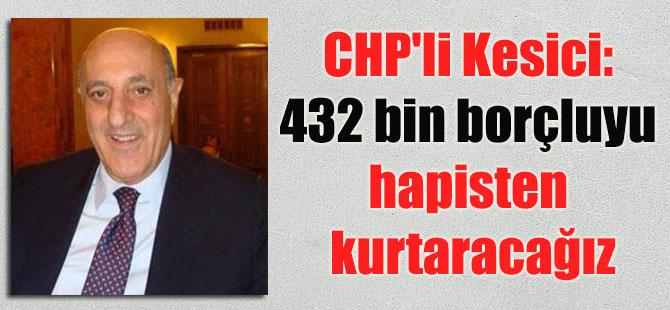 CHP'li Kesici: 432 bin borçluyu hapisten kurtaracağız