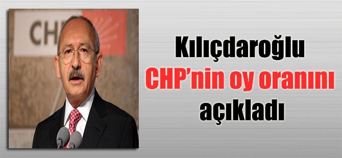 Kılıçdaroğlu CHP'nin oy oranını açıkladı