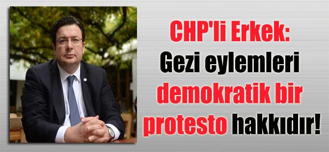CHP'li Erkek: Gezi eylemleri demokratik bir protesto hakkıdır!