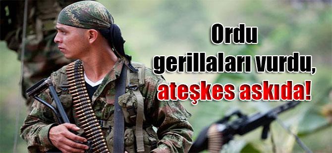 Ordu gerillaları vurdu, ateşkes askıda!