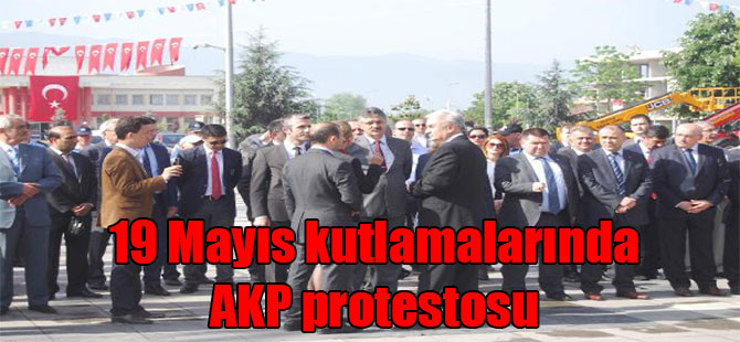 19 Mayıs kutlamalarında AKP protestosu