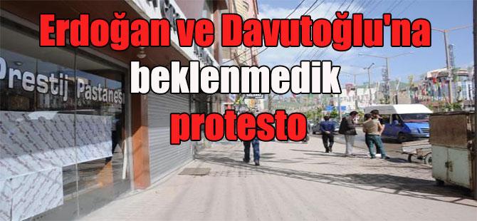 Erdoğan ve Davutoğlu'na beklenmedik protesto
