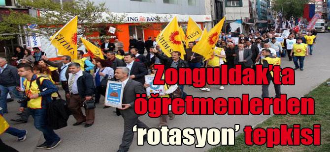 Zonguldak'ta öğretmenlerden 'rotasyon' tepkisi