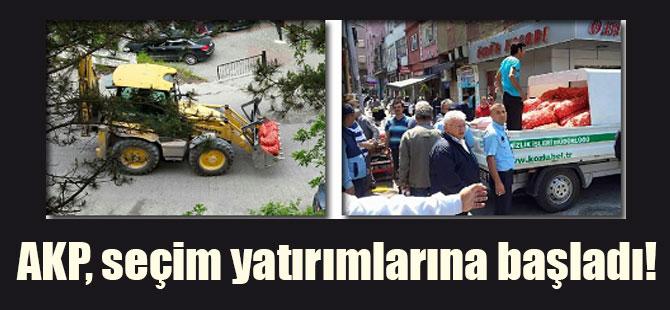 AKP, seçim yatırımlarına başladı!